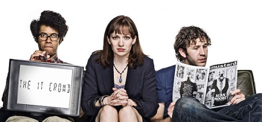 "Moss, Jen, and Roy of ""The IT Crowd"""