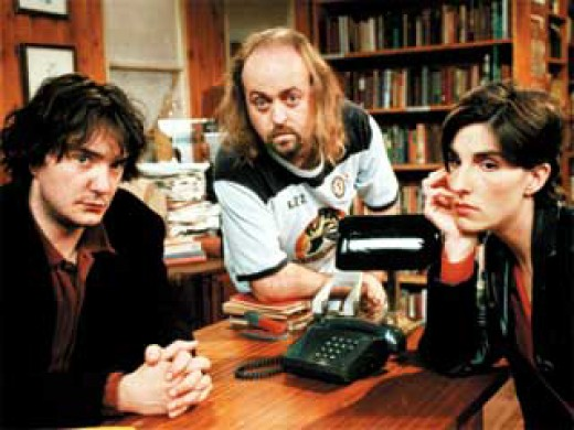 "Bernard, Manny, and Fran of ""Black Books"""