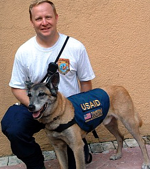 Ondo       October, 1998  - December, 2009    Background: Disaster search dog deployed to numerous missions including Haiti school collapse (2008)