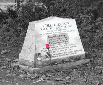 One of the supposed graves of blues great Robert Johnson