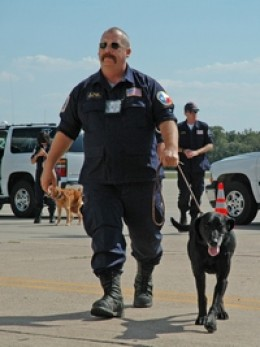 Kinsey   April, 1998  - January, 2007 Background: Disaster search dog deployed to numerous missions including World Trade Center (2001) and Hurricanes Katrina, Rita, &  & Ivan.