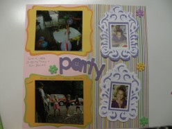 Easy to Make with your Cricut Machine Scrapbook Layout