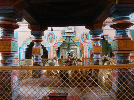 The wooden Mandap (pavilion)