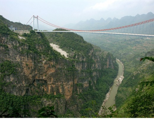 Beipanjiang River Bridge in China