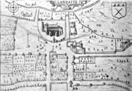 1610 map of Llandaff