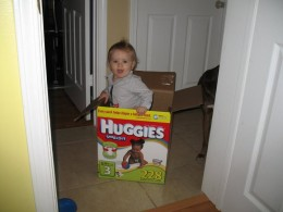 Boxes also make for great toys.