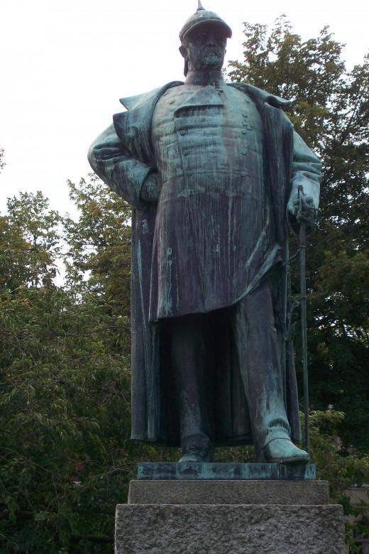 Emil Hundrieser's Statue of Bismarck, Lindenplatz, Luebeck