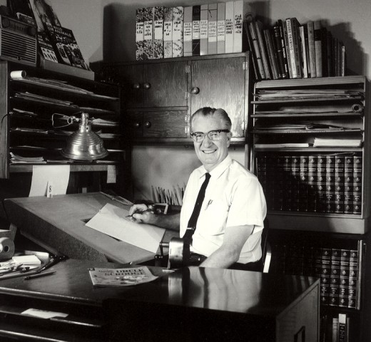 Carl barks in the studio...circa 1960s