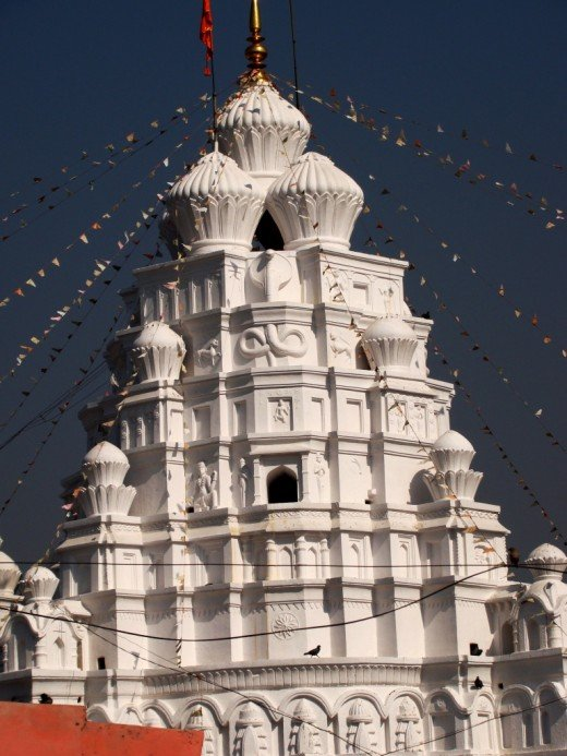 The pinnacle of the temple