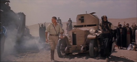 Still picture taken from David Lean's 'Lawrence of Arabia' showing a Rolls-Royce Armoured Car