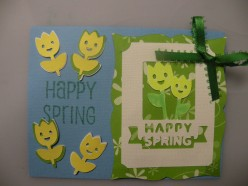 Cricut Card Ideas for an Easy to make Happy Spring card