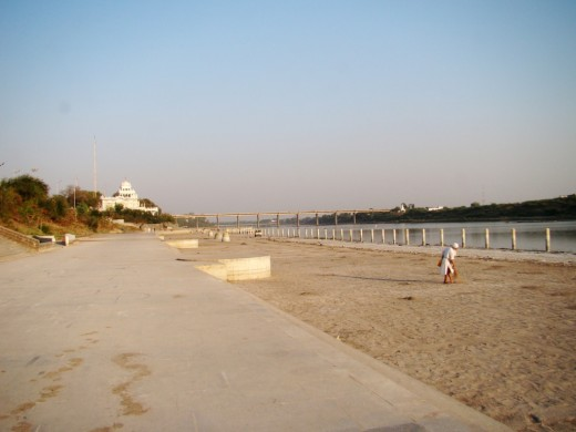 The holy river Godavari at Nanded