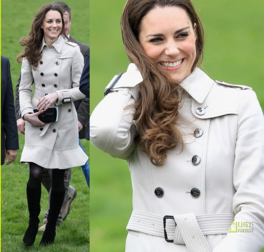 Kate in her famous Burberry Trench Coat