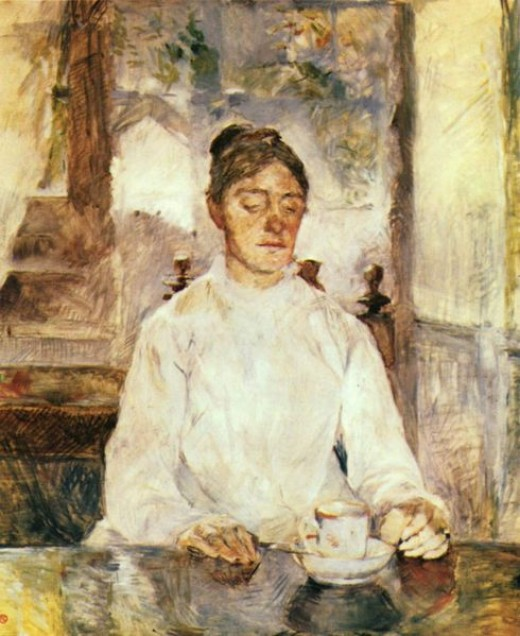 Toulouse Lautrec at Breakfast