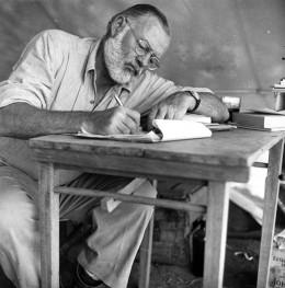 Hemingway working.