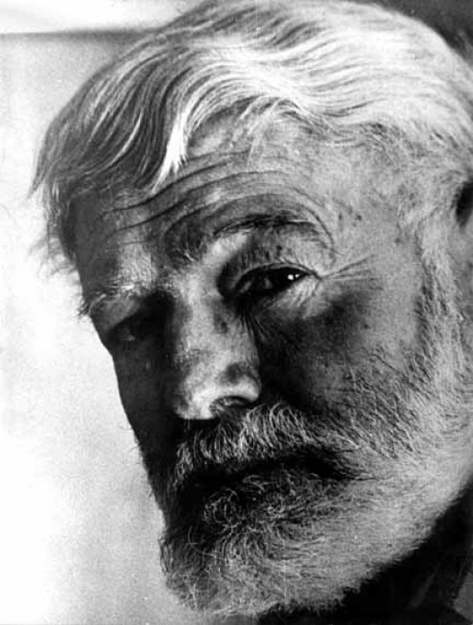 An aging Hemingway.
