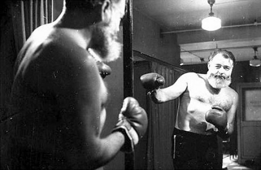 Hemingway ... boxing.