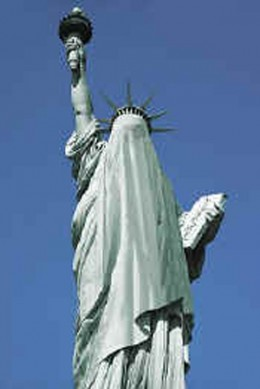 Muslims find the Statue of Liberty distasteful and anti Sharia Law.