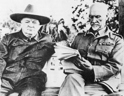 "Smuts and Churchill, 1942. Image Lean ""One Man in His Time""."