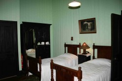 The bedroom at Doornkloof used by King Paul and Queen Frederika.