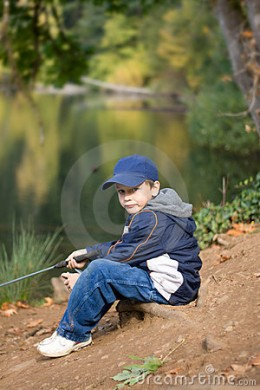 fisherboy at the pond.