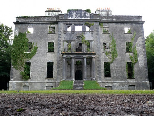 The facade of Moore Hall, Co.Mayo.