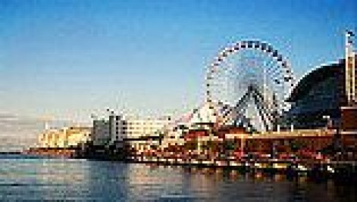 Navy Pier with one of the largest Ferris Wheels