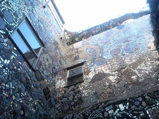 Work of Isaiah Zagar. Magic Garden's on South Street in Philadelphia, PA