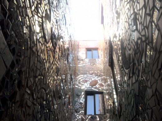 Work of Isaiah Zagar. Magic Garden's on South Street in Philadelphia, PA
