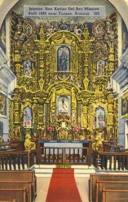 Alter of San Xavier Mission Circa 1930
