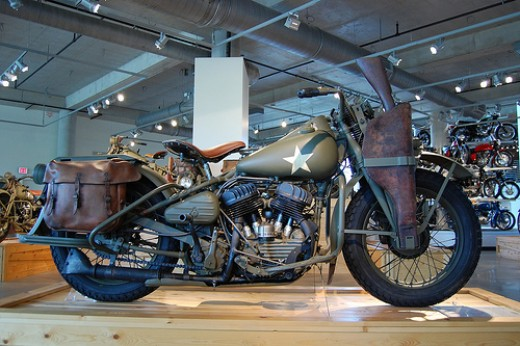 Two versions of the 1942 Harley-Davidson were manufactured for military use during World War II, the WLA and the XA.  Although both were designed for battle, only the WLA saw action during World War II