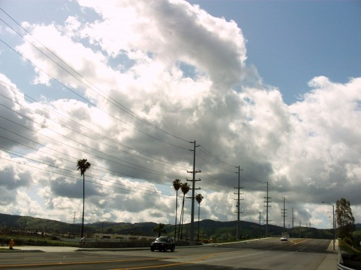 Clouds over the sky in Loma Linda.