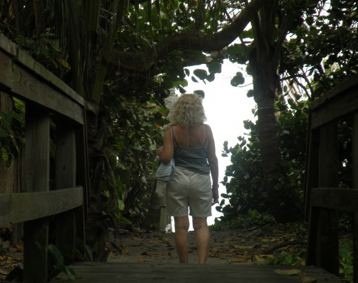 Me, On The Secret Path to The Ocean   Photo by Stephan