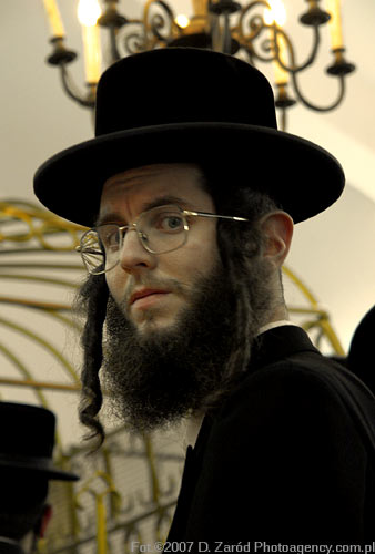 Joshua J. was imitating the Hasidic Jews. He looked just like the guy in this pic