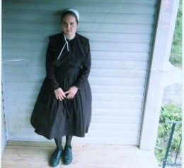 Amish Woman (The Amish are a Cult). Allyson B. looked no different from the woman in this pic.