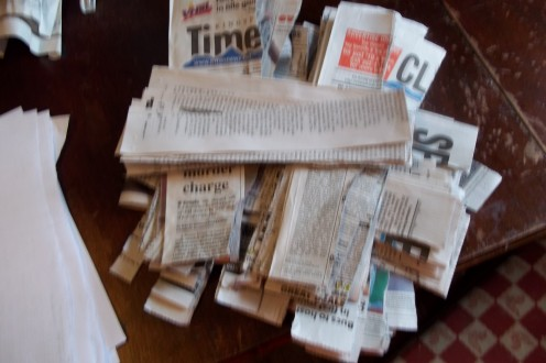 torn newspaper