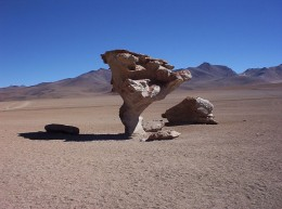 Rock eroded by wind into unique formation
