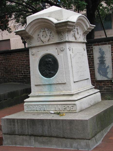 Edgar Allan Poe's grave in Baltimore, MD.