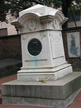 Edgar Allan Poe's grave in Baltimore, MD.