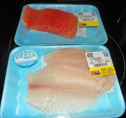 Step 2 - Get out your Salmon and Tilapia