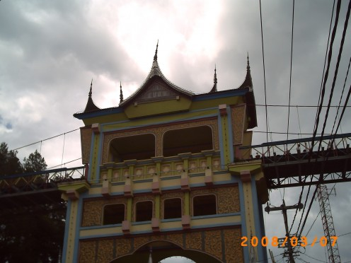 A closer look to Limpapeh Bridge.