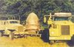 The Kecksburg UFO under the direction from the U.S. army was towed away on a flatbed truck.