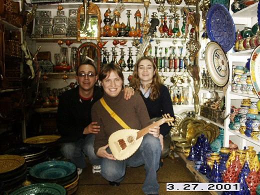 Crafts at Casablanca's Old City or Medina, Morocco.