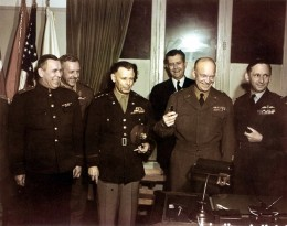 General Eisenhower with Allied commanders, Reims, May 7, 1945