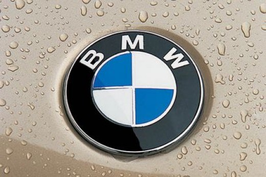 BMW's famous air-craft propeller badge.