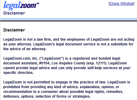 """LegalZoom admits they are not a law firm and can't give legal advice. So, 80% OF PEOPLE MAKE MISTAKES WITH DIY WILL/TRUST FORMS & AT LEGALZOOM ATTORNEYS DO NOT ACTUALLY """"DRAFT"""" YOUR DOCUMENTS, TO HELP CORRECT THAT SHOCKING REVELATION."""