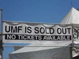 Tickets sold out six weeks before the event. All online sales.