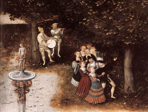 The Fountain of Youth by, Lucas Cranach the Elder. 1546