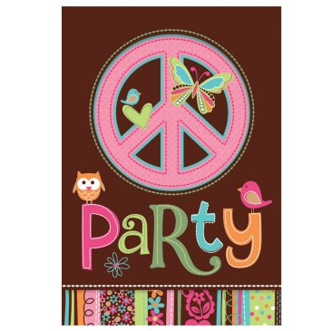 Hippie Chick Birthday Invitation