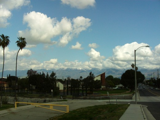A spectacular view of the San Bernardino Mountains.